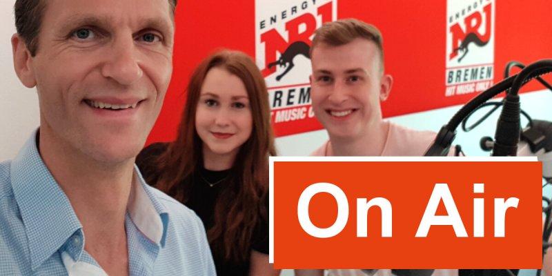 On Air bei Energy Bremen - 7summits4help-Blog