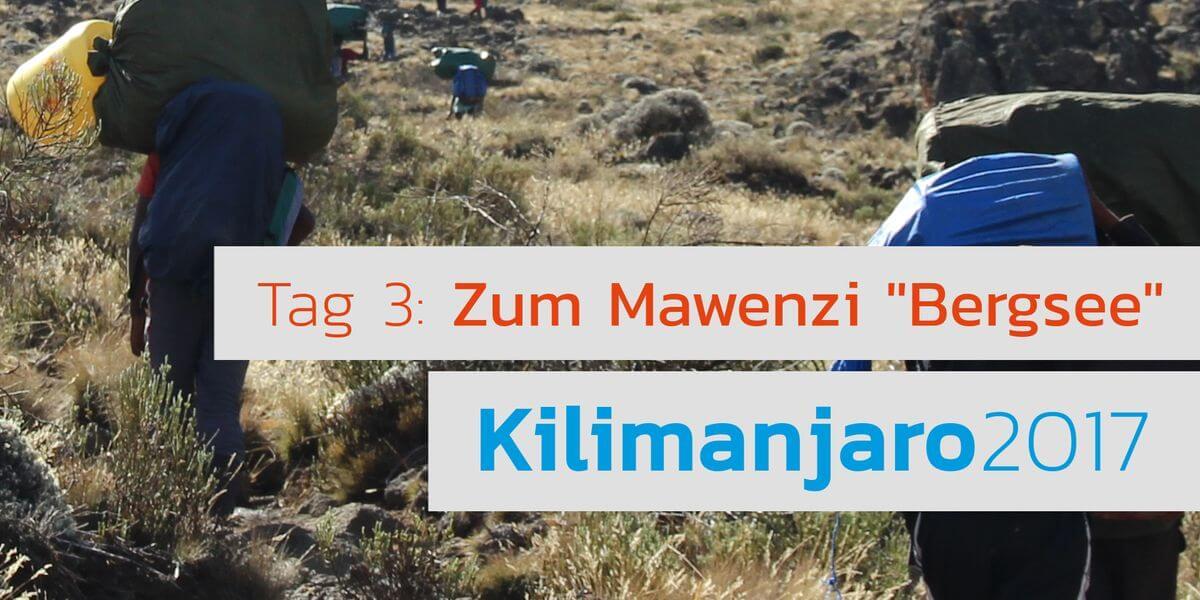 Video - Tarn heißt Bergsee - auf rund 4300m - 7summits4help Kili Mawenzi