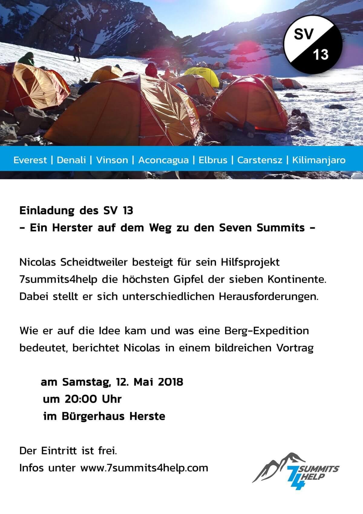 Vortrag beim SV 13 Herste im Bürgerhaus mit Nicolas Scheidtweiler