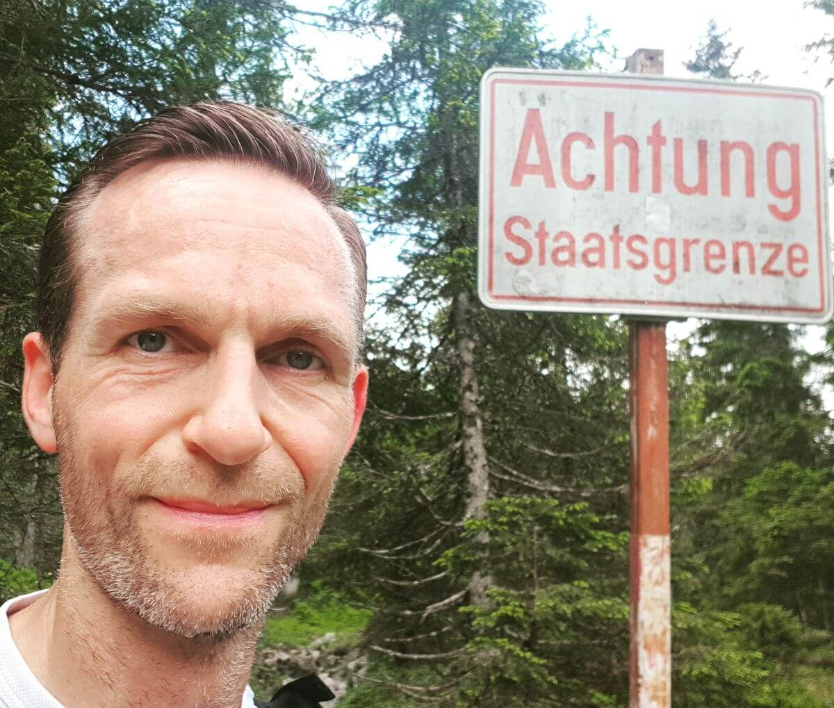 An der Staatsgrenze zu Österreich - Trailrunning in Garmisch