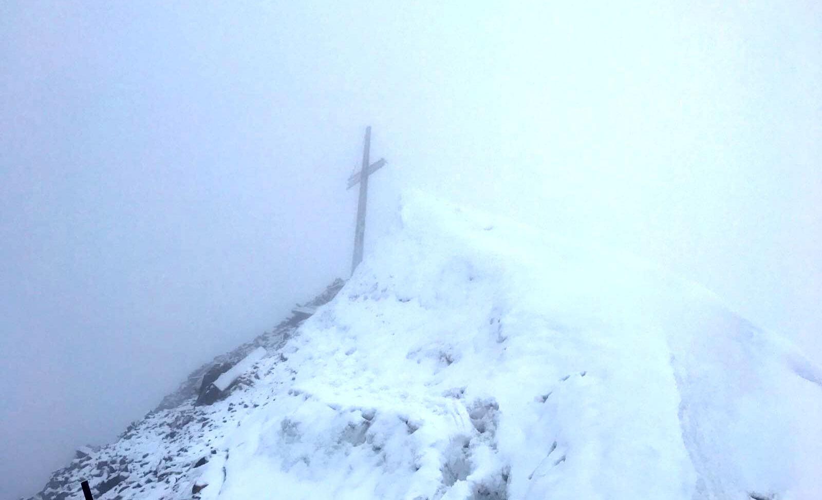 Die Königsspitze im Nebel - Alpinschule Ortler mit Jacopo Compagnoni