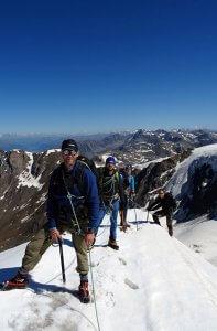 Azf dem Gipfelgrat des Monte Pasquale