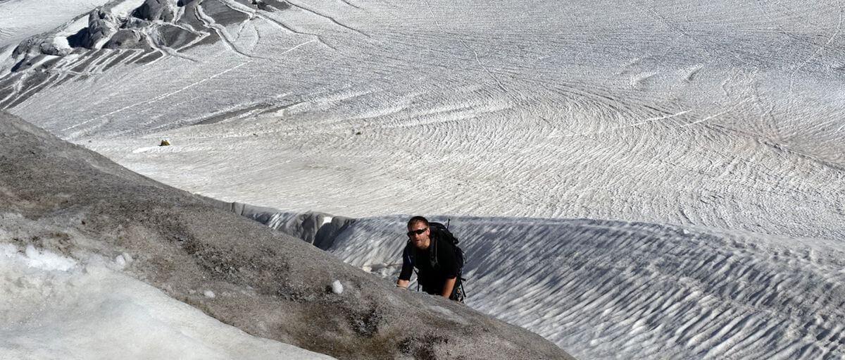 Toby im Steileis