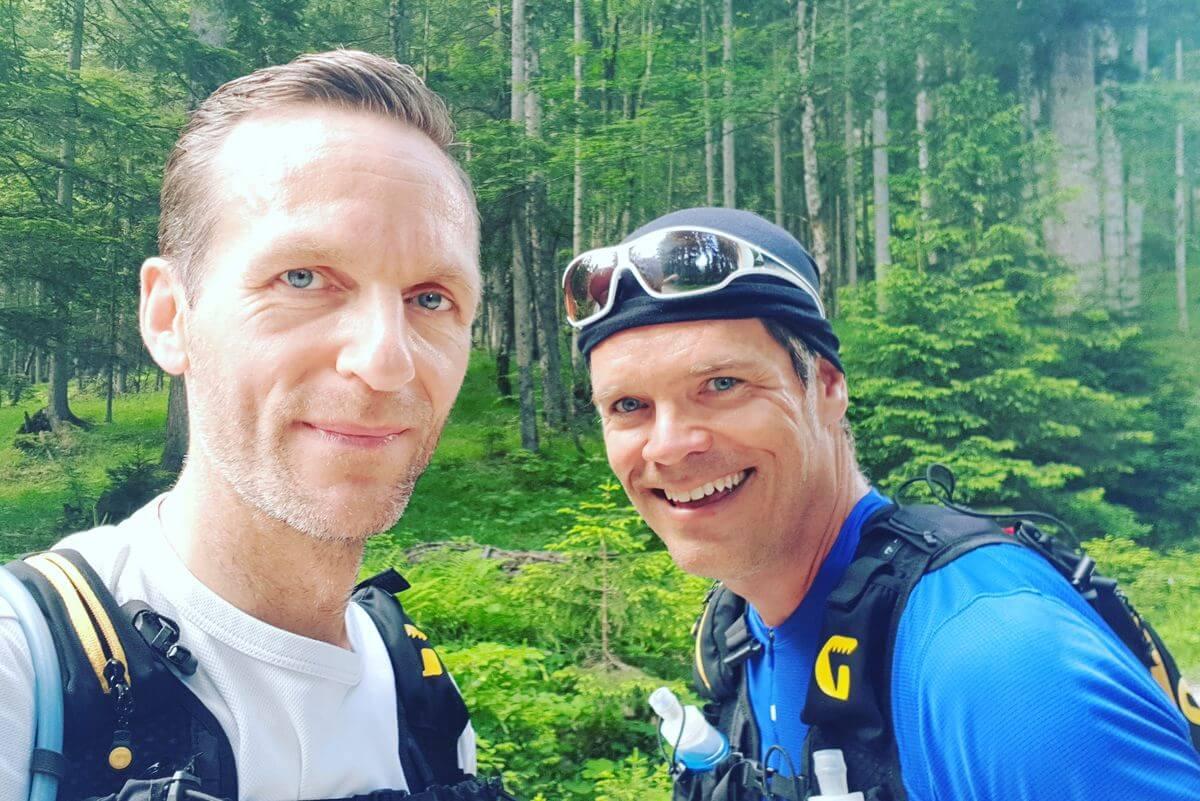 Nicolas Scheidtweiler und Markus Schaumlöffel beim Training für den Transalpinerun - Trailrunning in Garmisch