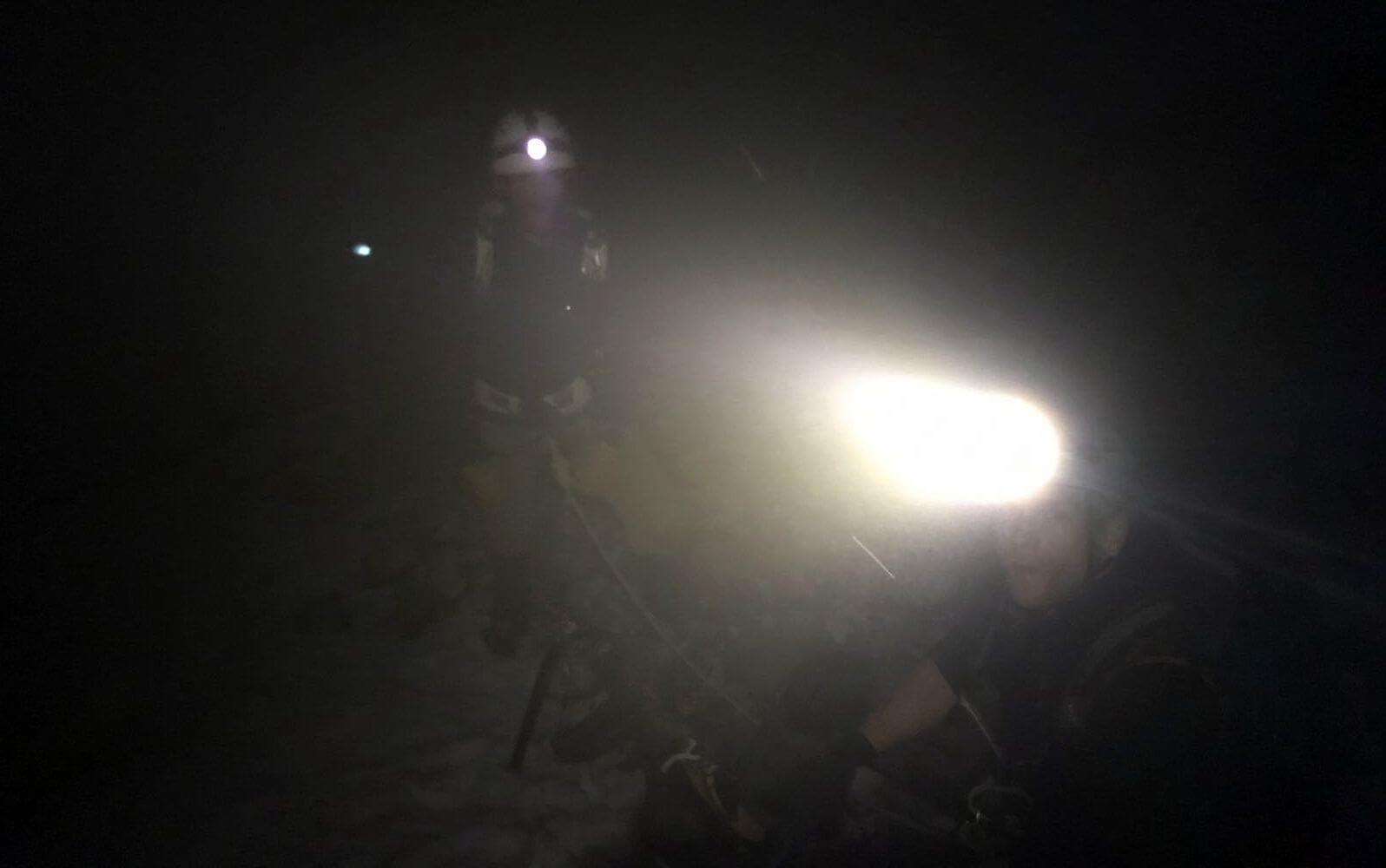 Nicolas und Toby - Aufstieg bei Nacht zur Königsspitze 2018