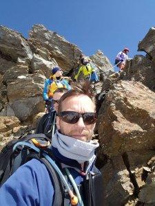 Abstieg über Fels vom Palon de la Mare