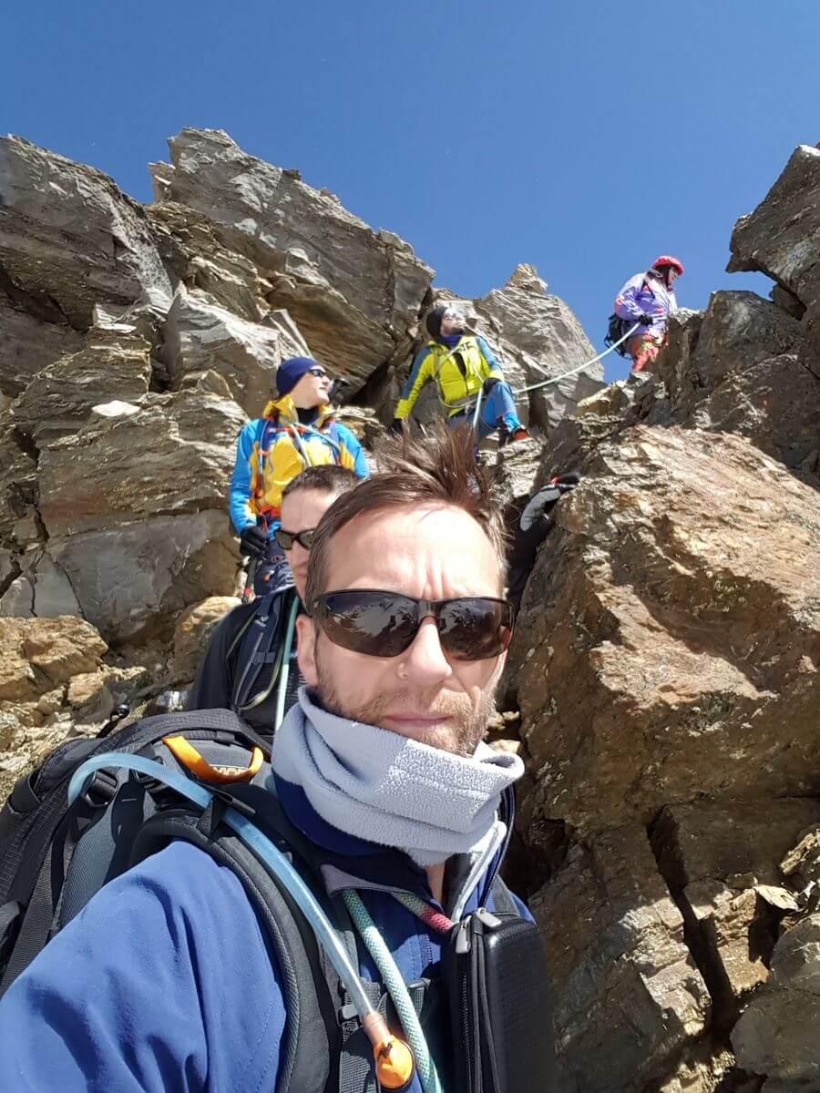 Palon de la Mare Abstieg über Fels - DAV Summit Club Hochtourenwoche Ortler