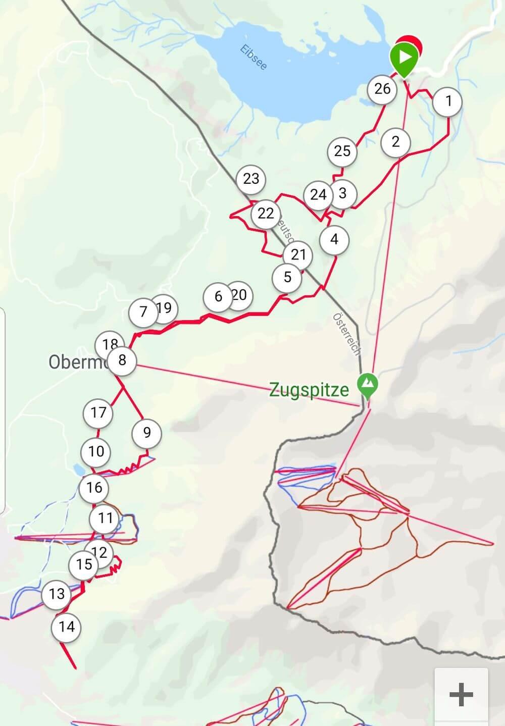 Teil der ersten Etappe des Transalpinerun -Trailrunning in Garmisch