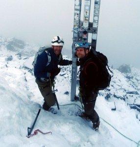 Toby und ich am Gipfel der Königsspitze