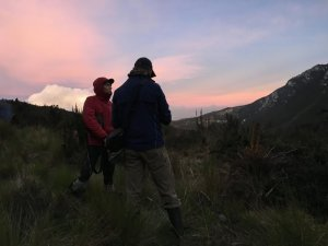 Bergsteiger-Romantik am Abend