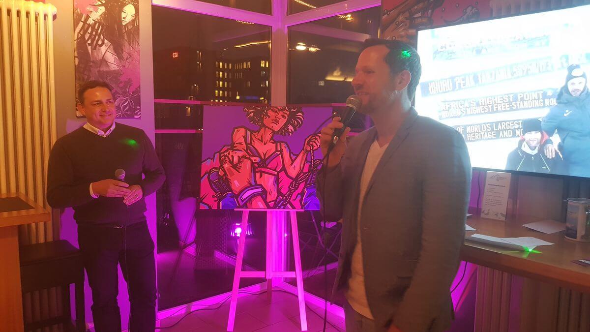 Moderator Roland Kanwicher und Mario Hasselmann