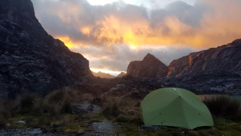Sonnenrot am Ende des Gipfeltages