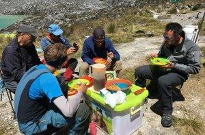 Mittagessen nach dem Gipfel