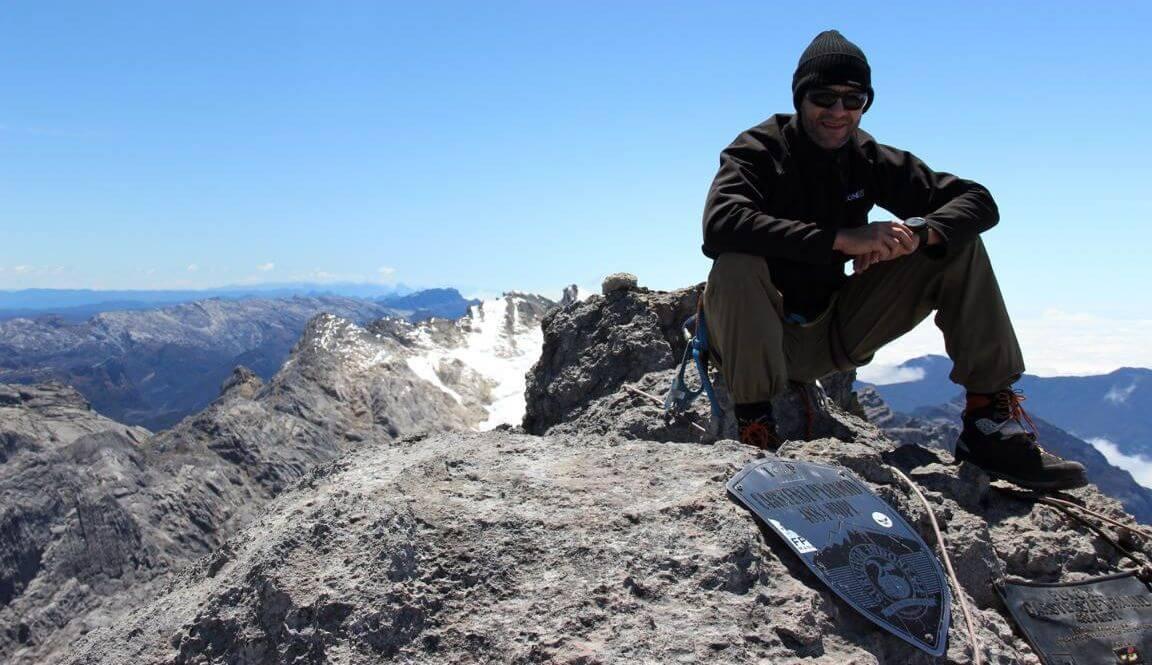 Ich auf der Carstensz-Pyramide