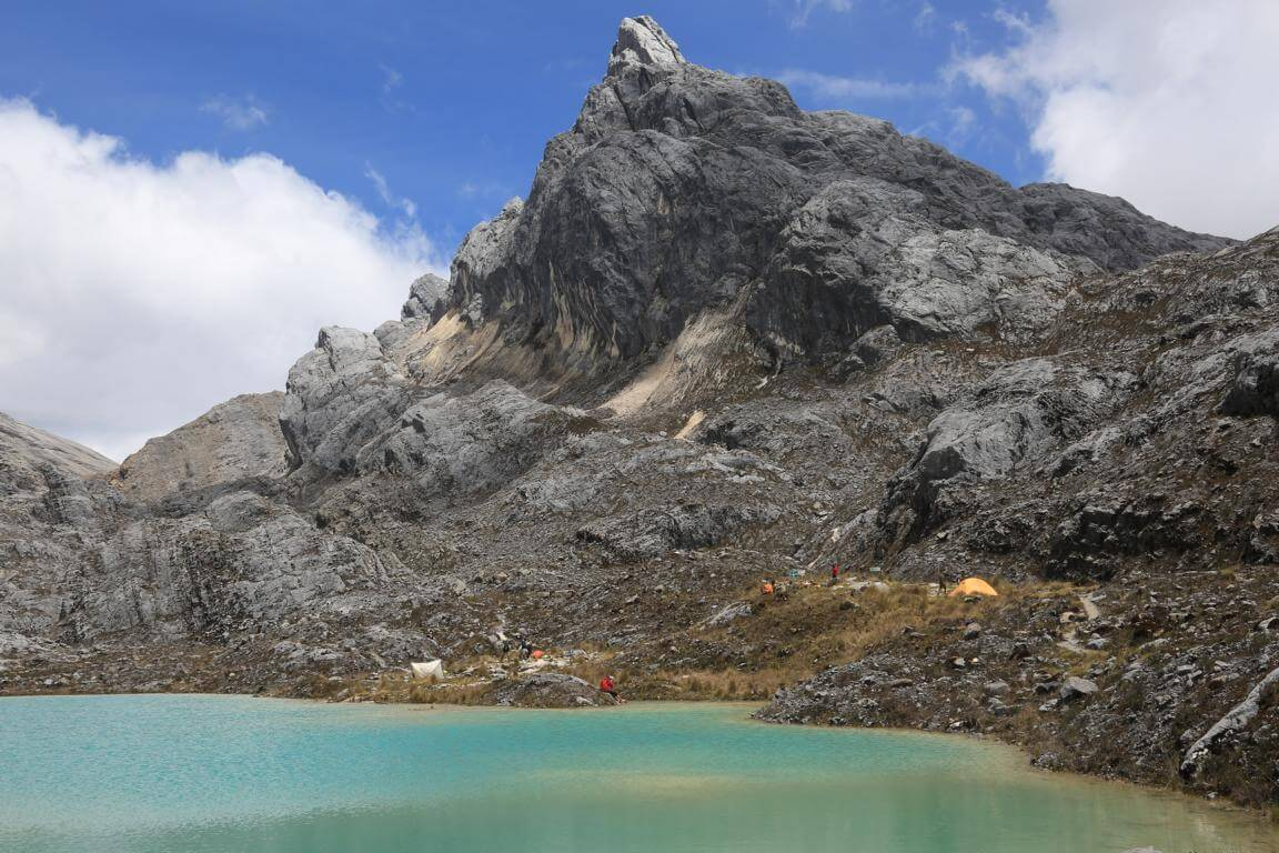 Unser Basislager an der Carstensz-Pyramide