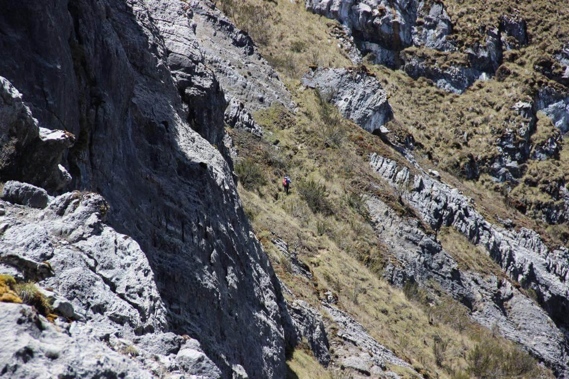 Werner Weiglein voraus - Carstensz-Pyramide