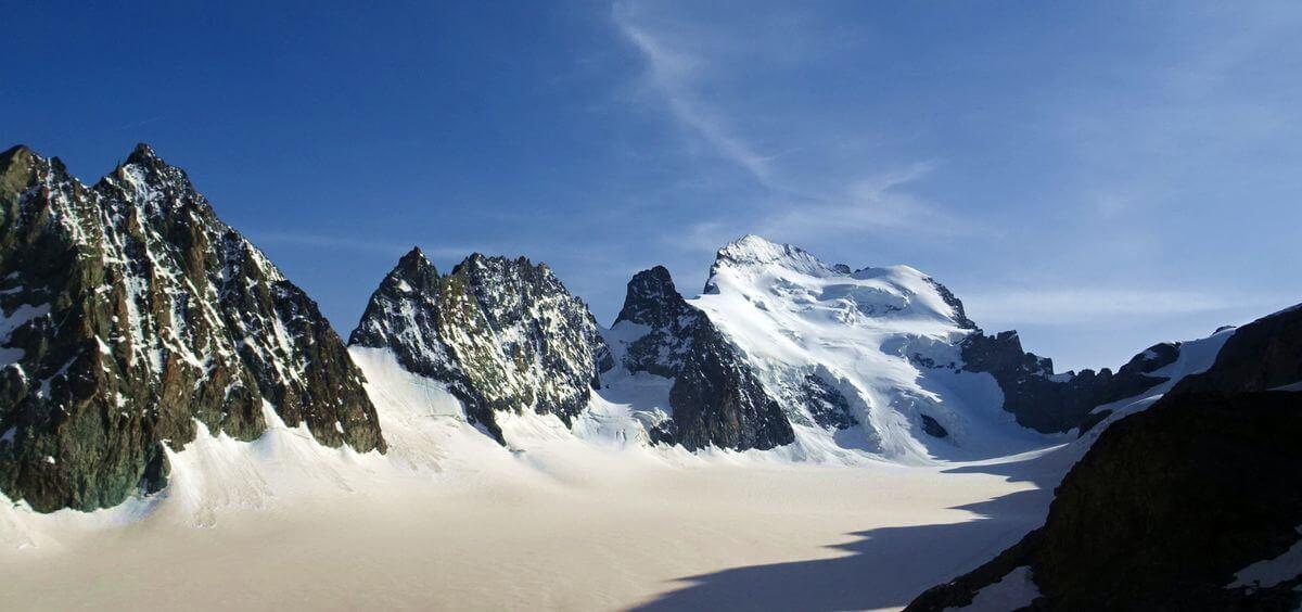 Der Barre des Écrins - südlichster 4000er der Alpen, Foto: Michi Wohlleben