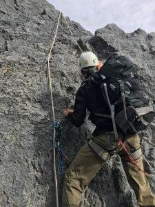 Beim Einstieg zur Carstensz-Pyramide