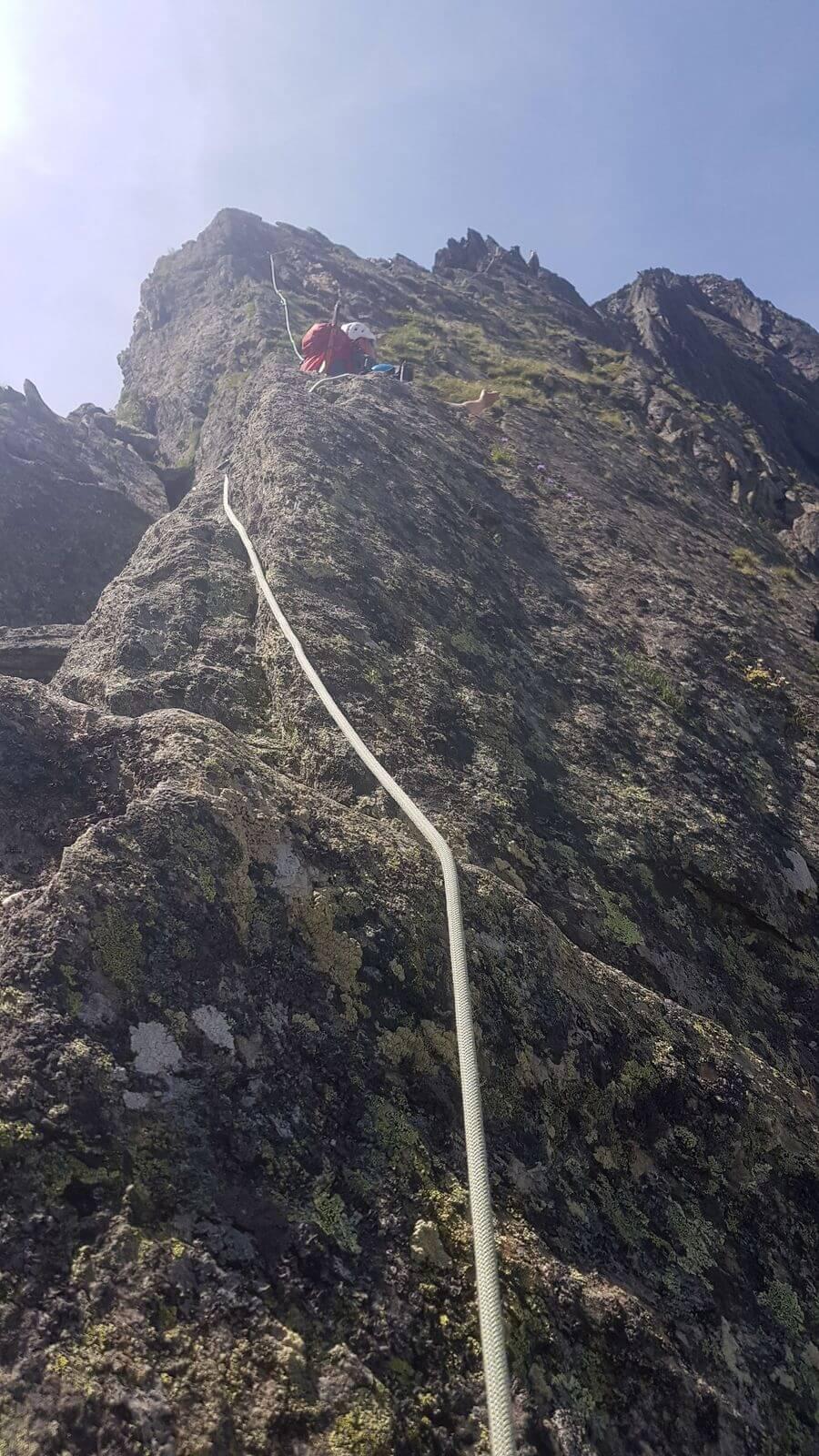 Auch mal steil am Hüttengrat zur Vorderen Sommerwand