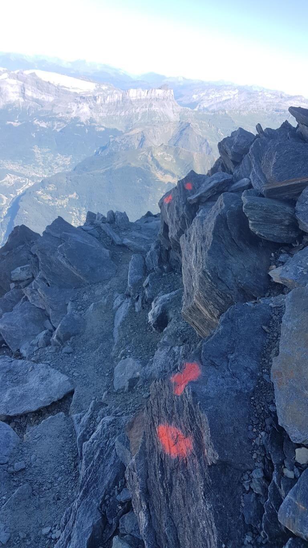 Abstieg über die Kletterstellen neben dem Grand Couloir