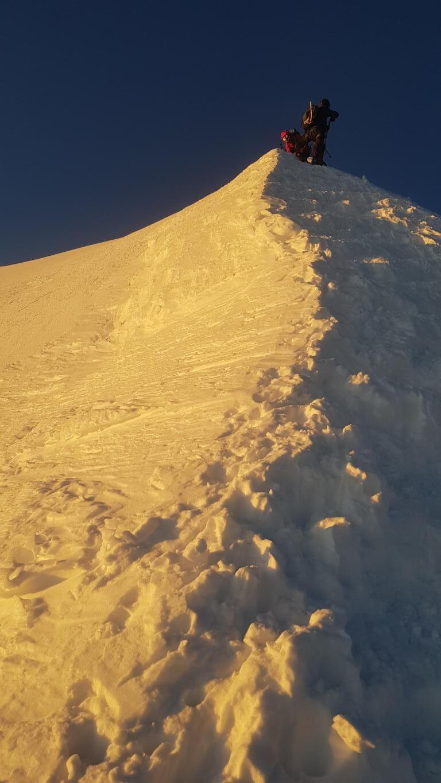 Goldener Schnee am Mont Blanc