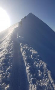 Letzte steile Meter zum Mont Blanc