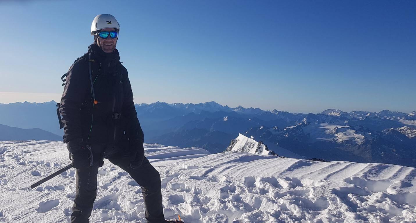 Nicolas Scheidtweiler solo auf dem Mont Blanc - 7summits4help
