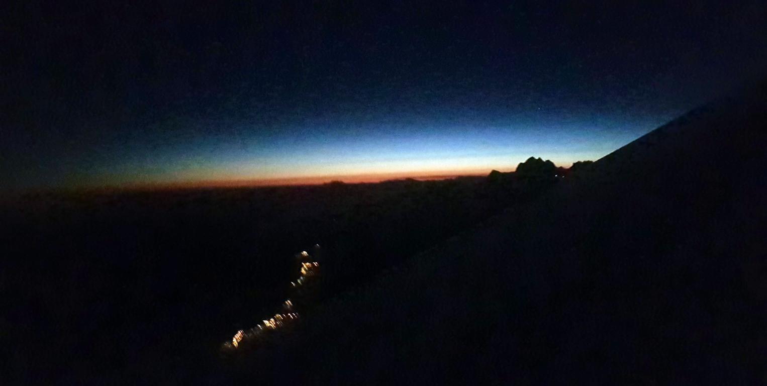 Silberstreif am Mont Blanc