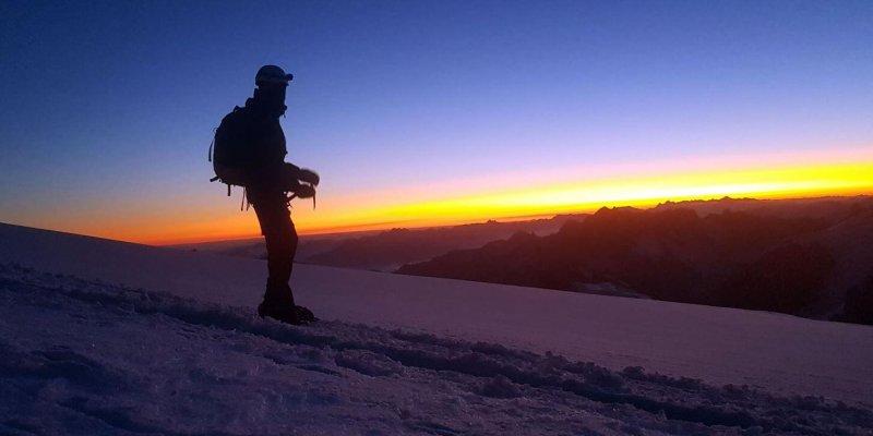 Sonnenaufgang am Mont Blanc - Blog Bergsteigen