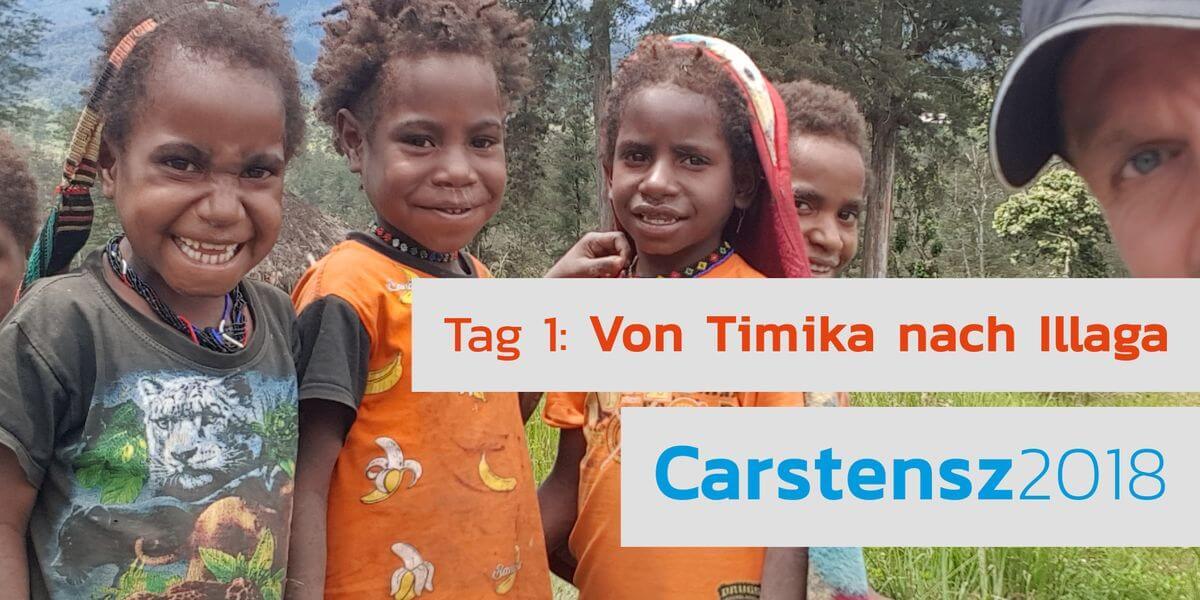 Nicolas Scheidtweiler mit einheimischen Kindern auf Westpapua